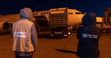 Самолет с гуманитарной помощью из Америки прилетел в Казахстан
