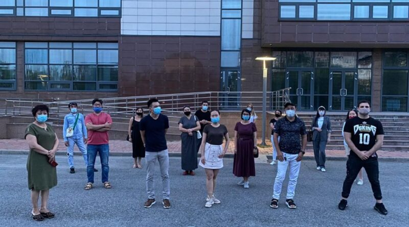 В Талдыкоргане протестуют бизнесмены