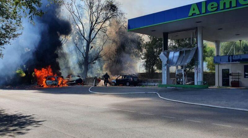 Внедорожник не вписался в поворот, спровоцировав взрыв газа