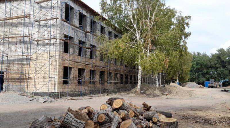 В Талдыкоргане в одной из школ к началу учебного года затеяли капремонт